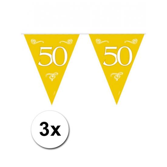 3x Jubileum vlaggenlijn 50 jaar