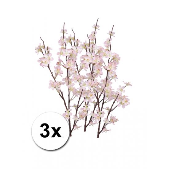 3x roze appelbloesem tak 84 cm