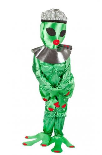 Alien vrouw kostuum. grappig kostuum van een vrouwelijke alien. het complete kostuum bestaat uit jumpsuit en ...