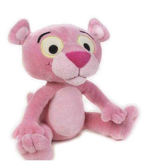 Baby knuffel Pink Panter met ratel 17cm
