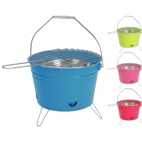 Barbecue emmer blauw 28 cm