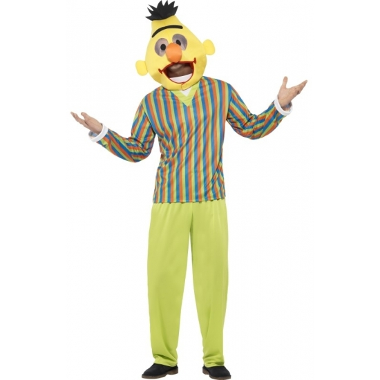Bert kostuum voor volwassenen. bert pak uit de bekende serie sesamstraat. dit bert kostuum bestaat uit het ...
