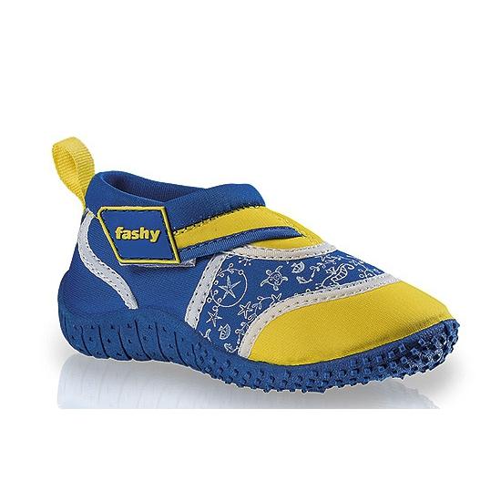 Blauw/gele kinder waterschoenen