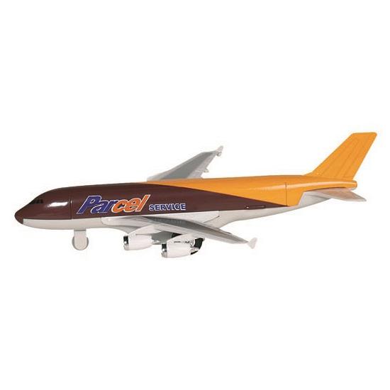 Cargo vliegtuig bruin 19 cm