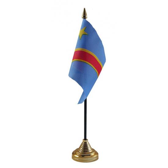 Congo tafelvlaggetje inclusief standaard