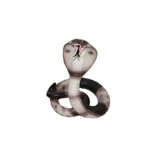 Decoratie gevlekte cobra slang 15 cm