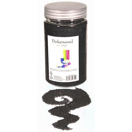 Decoratie korrelzand zwart 500 gram