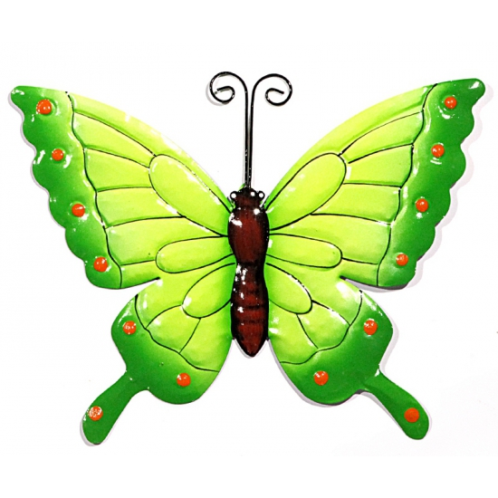 Decoratie vlinder groen 22 cm