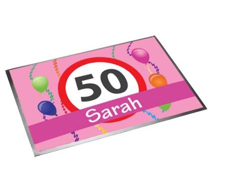 Deurmat Sarah 50 jaar