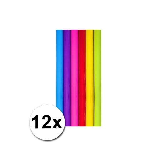 Diverse kleuren kadopapier 12 rollen