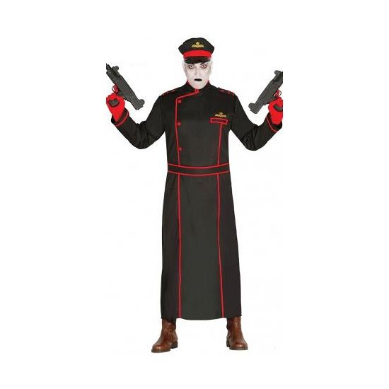 Duitse generaal kostuum zwart. lange jas met inclusief pet en riem. dit kostuum is ideaal te combineren in ...