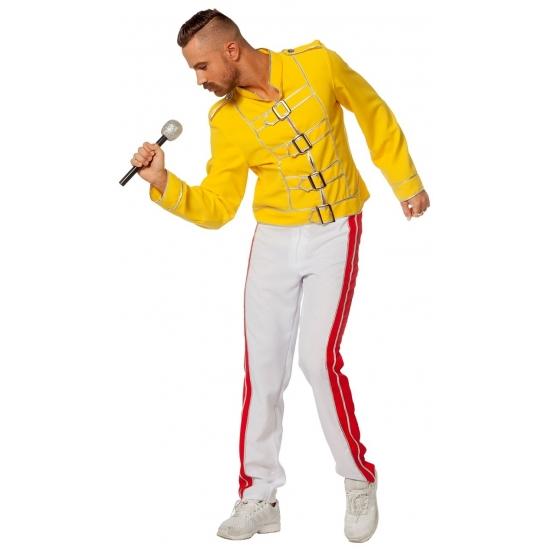 Freddie kostuum voor heren. verkleed u zelf als freddie mercury met dit mooie kostuum. het kostuum bestaat ...