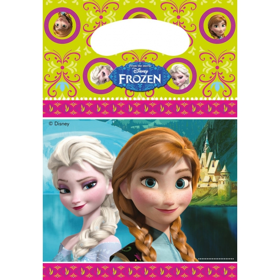 Frozen thema feestzakjes 6 stuks