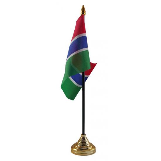 Gambia tafelvlaggetje inclusief standaard