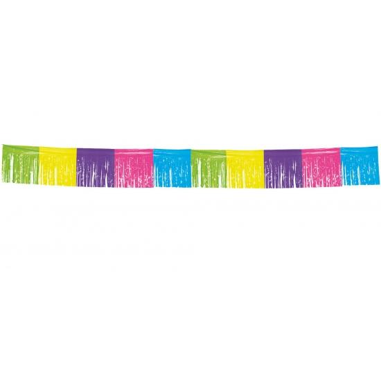 Gekleurde franje slinger 10 meter (bron: Feestartikelen-winkel)