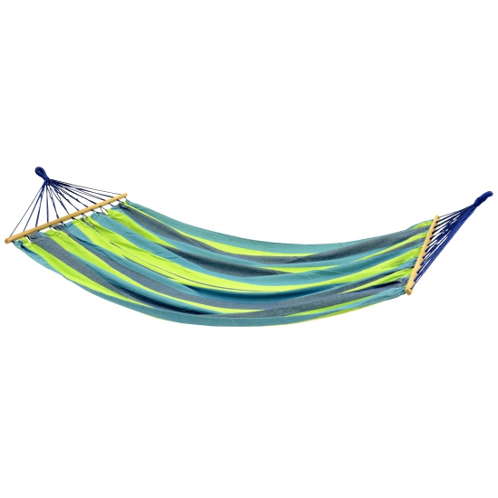 Gekleurde hangmat blauw/groen