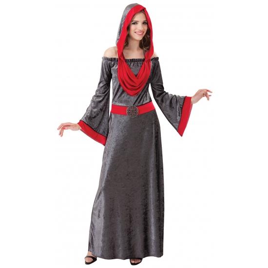 Gothic dames jurk grijs