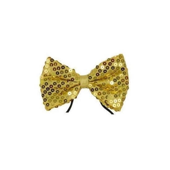 Goud vlinderstrikje met pailletten