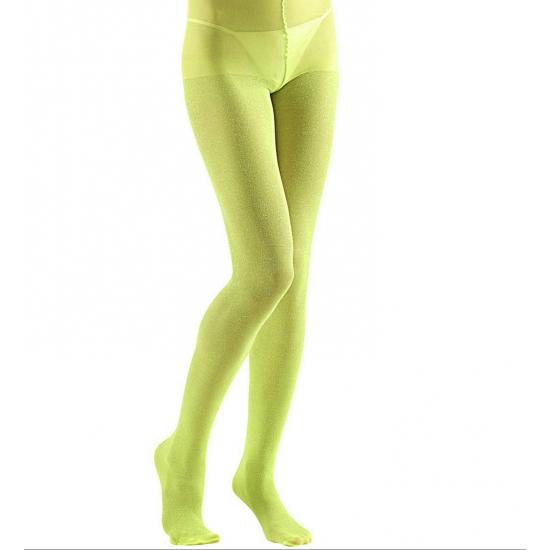 Groene glitter panty 40 denier