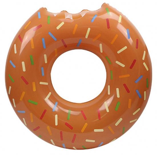 Grote bruine donut zwemband 119 cm