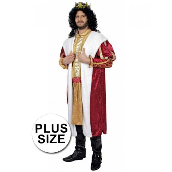 Grote maten konings mantel kostuum voor heren. dit kostuum bestaat uit 1 geheel en is een lang shirt met ...