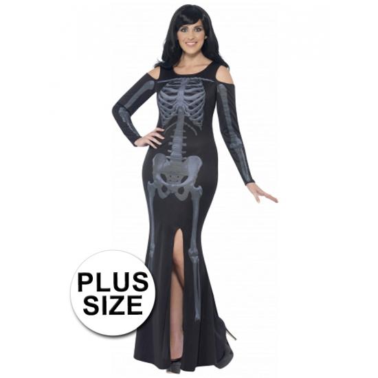 Grote maten skelet jurk voor dames