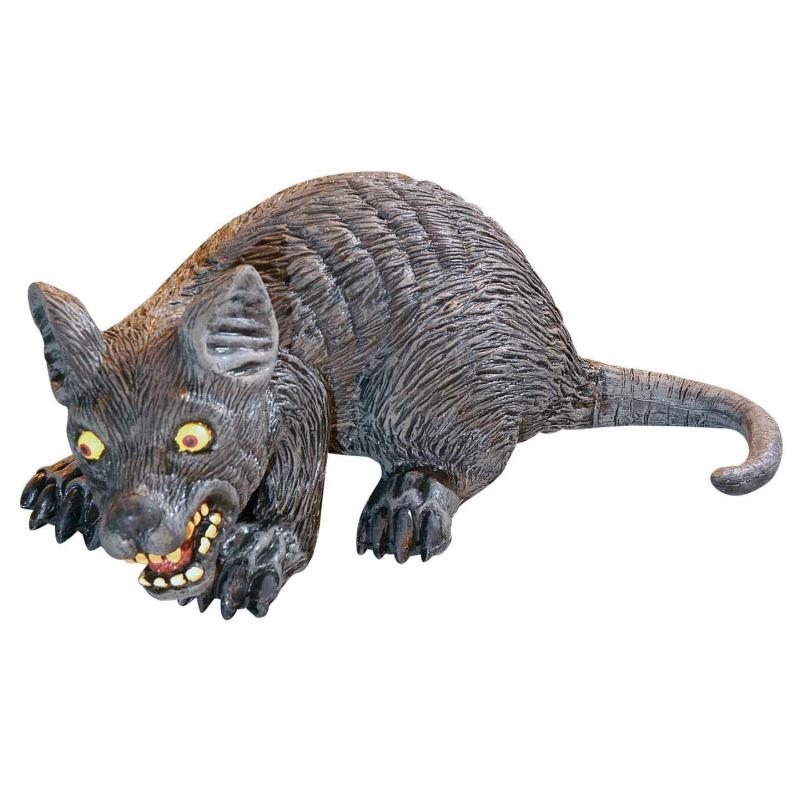 Halloween Enge decoratie rat 32 cm
