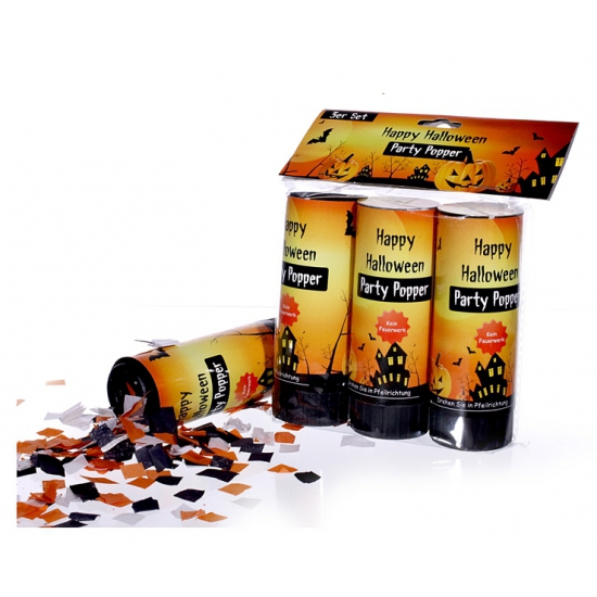 Halloween party poppers 3 stuks