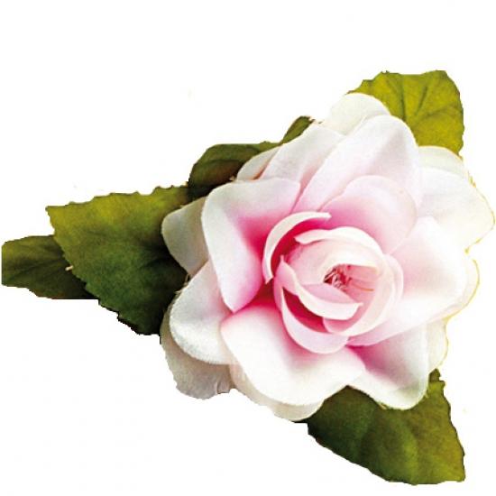 Hawaii haarclip roze roos