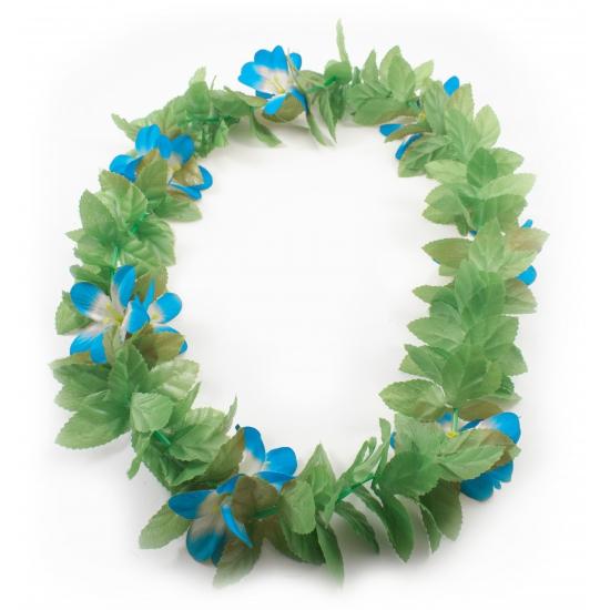 Hawaii slinger blauwe bloem