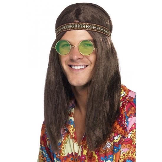 Hippie heren verkleed kit