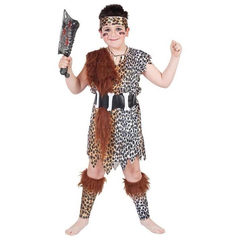 Holbewoner kostuum voor kinderen. dit holbewoner kostuum voor kinderen bestaat uit een lang hemd, riem, ...