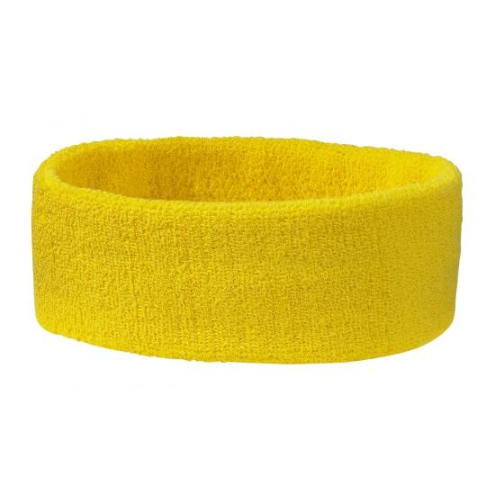 Hoofd zweetband goudgeel
