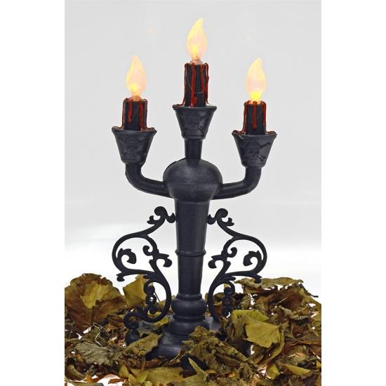 Horror kaarsen kandelaar met lampjes 33 cm