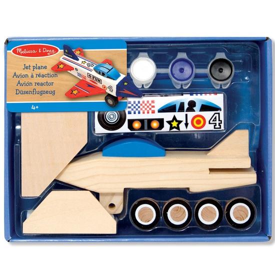 Houten vliegtuig bouwpakket Jet Plane