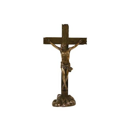 Jezus aan het kruis beeldje 24 cm
