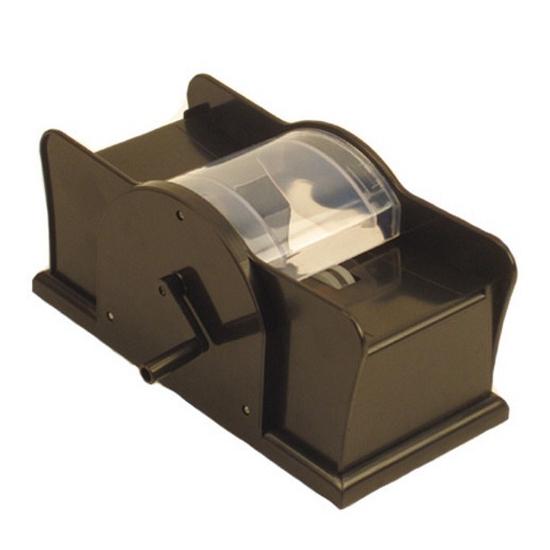 Kaartenschudmachine met hendel