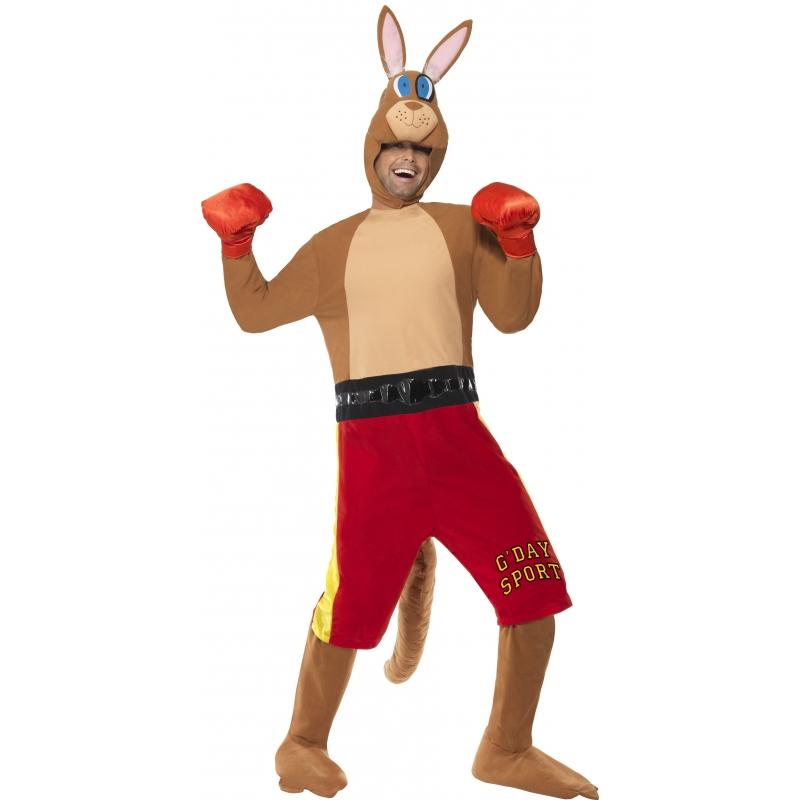 Kangoeroe bokser kostuum. origneel kostuum van een boksende kangoeroe. het kangoeroe bokser kostuum bestaat ...