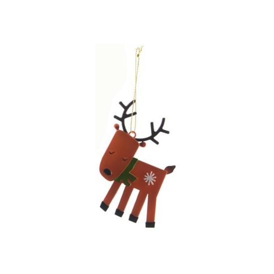 Kerstboom decoratie hert 12 cm