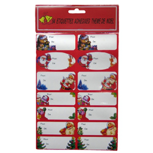 Kerstcadeau label stickers