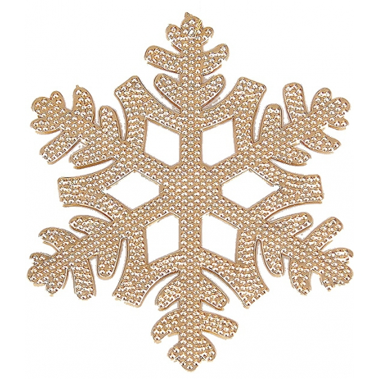 Kersthanger sneeuwvlok koper 10 cm