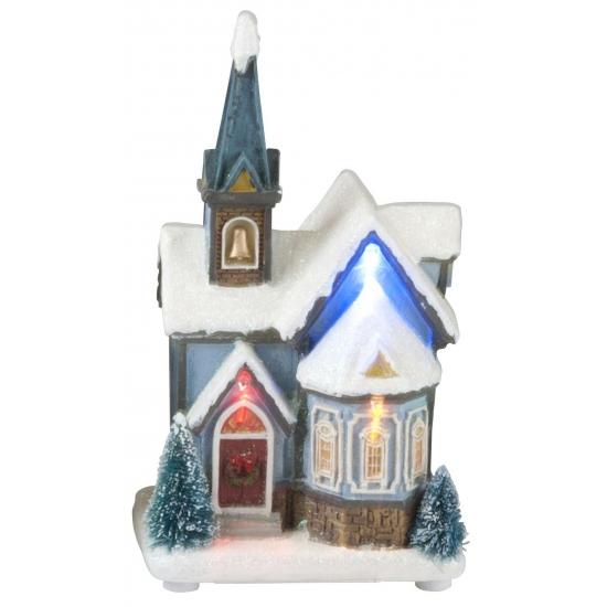 Kersthuisje Kerk met LED