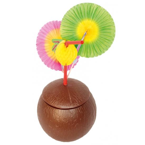 Kokosnoot beker met deksel (bron: Feestartikelen-winkel)