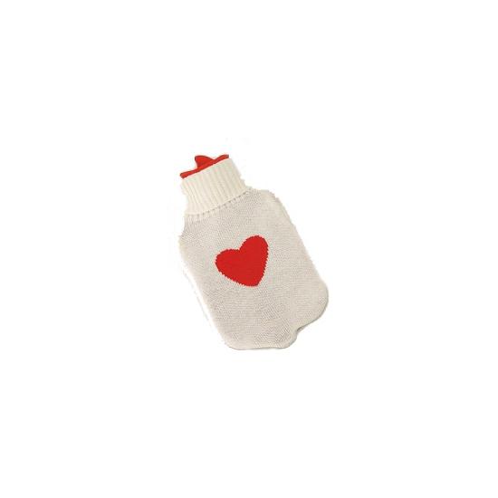 Kruik met hart wit 35 cm