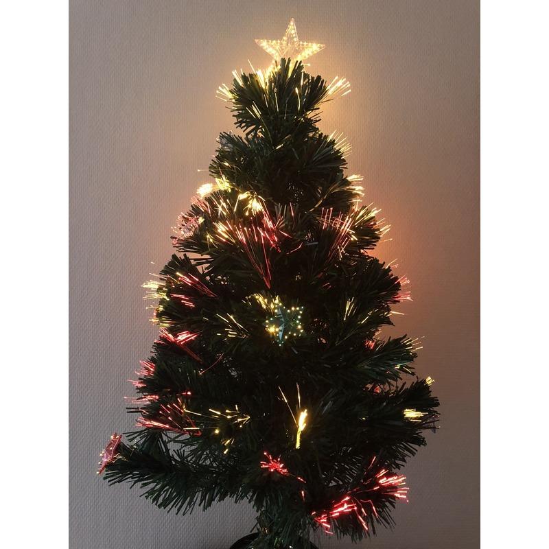 Kunst kerstboom met versiering 90 cm