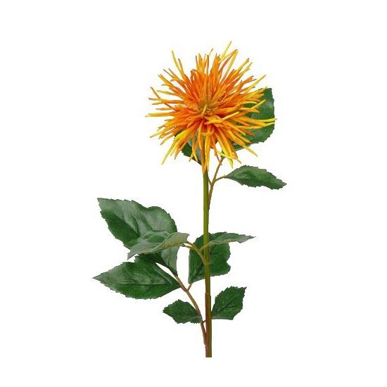 Kunstbloem Chrysant oranje/geel 71 cm