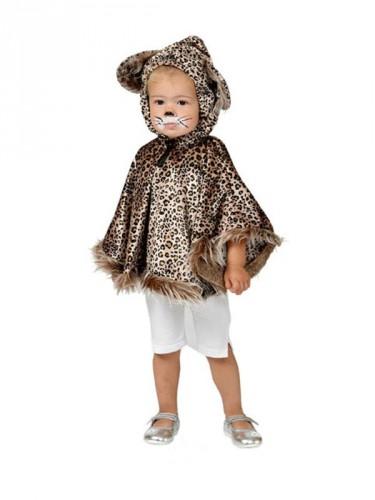 Luipaard poncho voor peuters (bron: Feestartikelen-winkel)