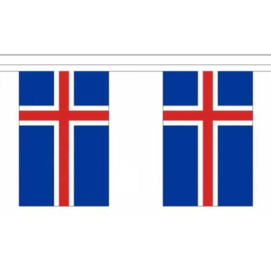 Luxe IJsland vlaggenlijn 9 m