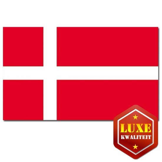 Luxe vlag van Denemarken