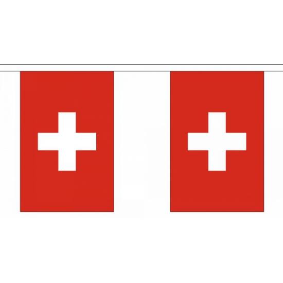 Luxe Zwitserland vlaggenlijn 9 m